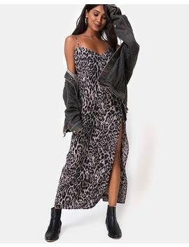 Batis Maxi Dress In Leopard Grey By Motel by Motel