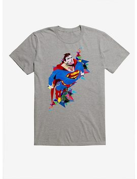 Dc Comics Superman Shapes Grey T Shirt by Hot Topic