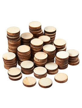Unfinished Wood Slices   100 Count Round Natural Rustic Wood Circles, Wooden Log Slices For Diy Craft, Wedding Decoration, Home Decor Centerpieces, 0.5 Inch Diameter, 0.1 Inch Thick by Juvale