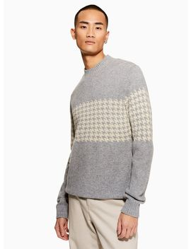 Selected Homme Grey Houndstooth Jumper by Topman