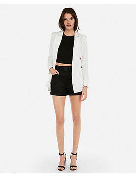 Olivia Culpo Striped Boyfriend Blazer by Express