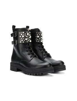 Teen Embellished Ankle Strap Boots by Florens