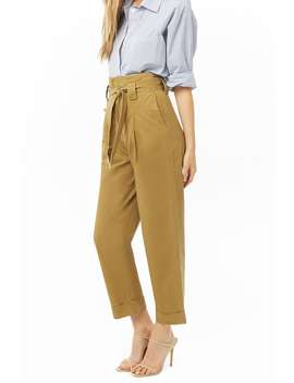 High Rise Pleat Front Pants by Forever 21