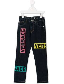 Logo Patch Jeans by Young Versace