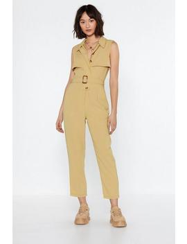 Really Belt It Jumpsuit by Nasty Gal