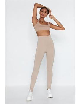 In It For The Long Run Ribbed Leggings by Nasty Gal