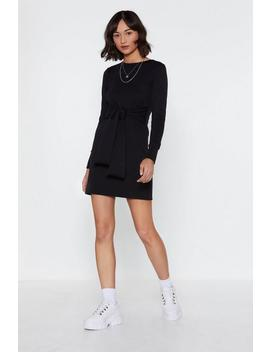 Jersey Tie Waist Mini Dress by Nasty Gal