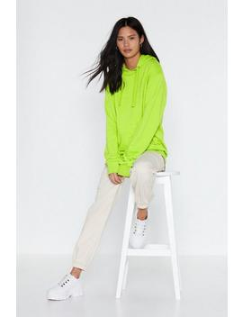 Oversized Neon Hoody by Nasty Gal