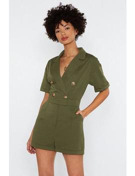 Come Button Now Romper by Nasty Gal