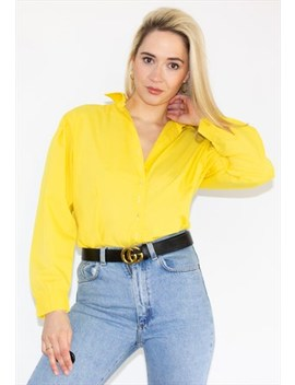 Vintage 90's Yellow Shirt by Florrie Janes Vintage