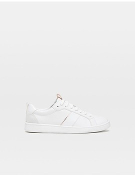 White Trainers With Heel Piece Detail by Stradivarius