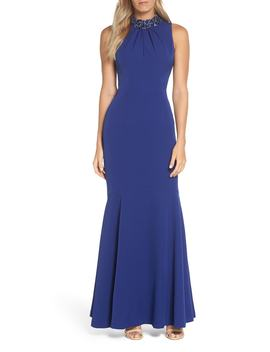Laguna Scuba Crepe Gown by Vince Camuto