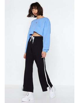 Knit Me With It Wide Leg Joggers by Nasty Gal
