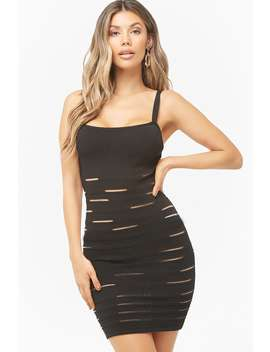 Mesh Cutout Mini Bodycon Dress by Forever 21