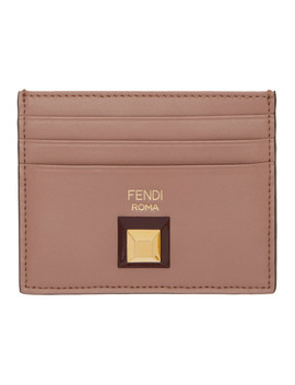 Pink Stud Card Holder by Fendi