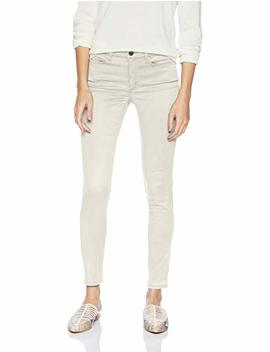 Daily Ritual Women's Sateen 5 Pocket Skinny Pant by Daily Ritual