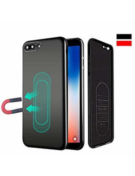 Case For I Phone 6/6s,Ultra Thin Magnetic Phone Case For Magnet Car Phone Holder With Invisible Built In Metal Plate,Soft Tpu Shockproof Anti Scratch Protective Cover For I Phone 6/6s 4.7''[Black] by Haobuy
