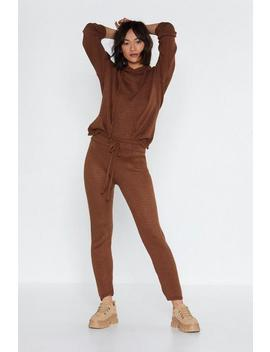 Hood Going Knit Hoodie And Joggers Set by Nasty Gal