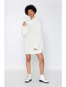 Everything's Sweater In Knit Oversized Dress by Nasty Gal