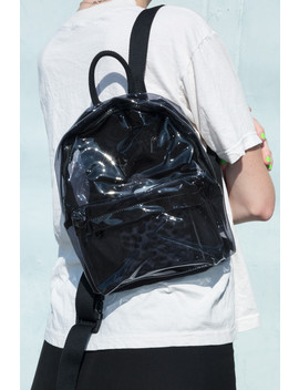 Mini Black Transparent Backpack by Brandy Melville