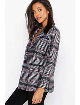 Check Blazer Coat by Boohoo