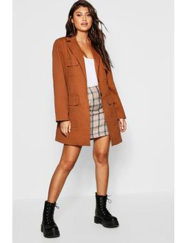 Belted Pocket Utility Jacket by Boohoo