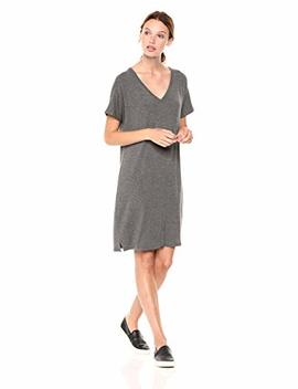 Daily Ritual Women's Jersey Short Sleeve V Neck Dress by Daily Ritual