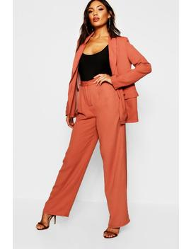 Wide Leg Woven Tailored Trouser by Boohoo