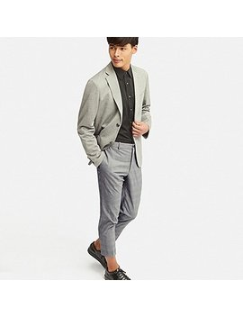 Men Ezy Ankle Length Pants (Glen Checked) by Uniqlo
