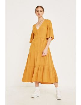 Faithfull The Brand Melia Yellow Midi Dress by Faithfull The Brand