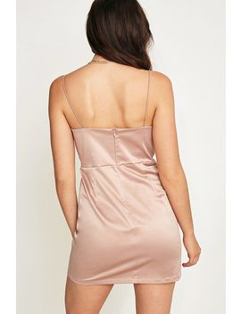 Uo Satin Mini Shift Dress   Pink by Urban Outfitters