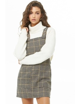 Glen Plaid Overall Dress by Forever 21