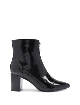 Pull Ring Block Heel Booties by Forever 21