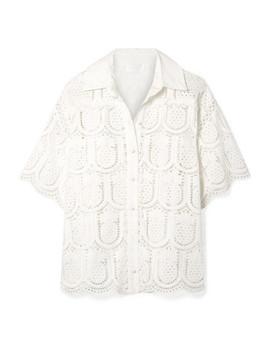 Wayfarer Cotton Crochet Shirt by Zimmermann