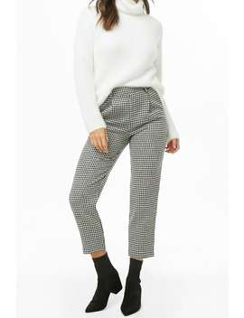 Houndstooth Cropped Pants by Forever 21