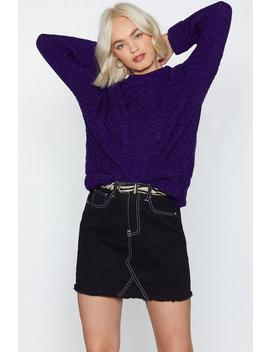 Give Knit Time Cable Sweater by Nasty Gal