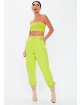 Lime Green Basic Bandeau Top by Missguided