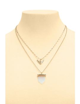 Layered Arrow Pendant Necklace by Forever 21