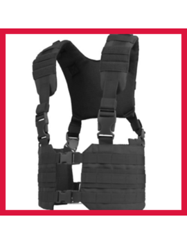 Mcr7 Molle Tactical Ronin Chest Rig Split Vest Black 002 Free Shipping by Does Not Apply