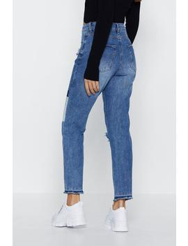 Patch 'em Off Guard Distressed Jeans by Nasty Gal
