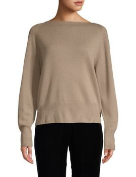 Wool & Cashmere Boatneck Pullover by Vince