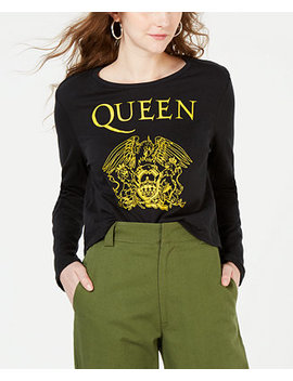 Juniors' Queen Cotton Graphic Print T Shirt by Bravado