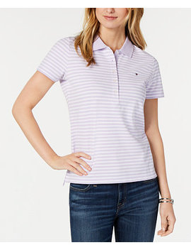 Striped Piqué Polo Top, Created For Macy's by Tommy Hilfiger