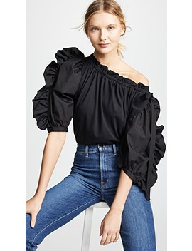 Combo Poplin Sleeve Blouse by See By Chloe