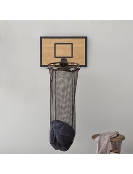Basketball Hoop Over The Door Hamper by P Bteen