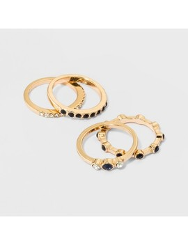 Mixed Ring Set 4pc   A New Day™ Gold by A New Day