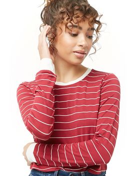 Striped Crew Neck Top by Forever 21