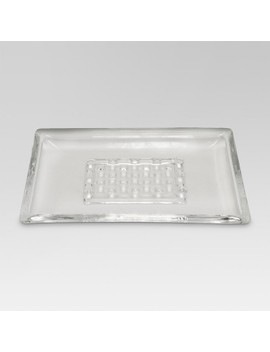 Frosted Soap Dish Clear   Threshold™ by Threshold