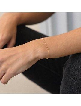 Eve Bracelet • Beaded Chain Bracelet • Delicate Bracelet,  Minimal Jewelry, Minimalist Jewelry, Layering Bracelet, Satellite Bracelet, Gift by Etsy