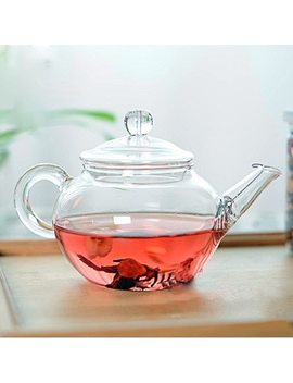 Transparent Teapot Heat Resistant Glass Teapot With Chinese Infuser Coffee Flower Tea Leaf Herbal Pot 250ml Durable Kettle Gift by Preup